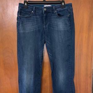 Paige Womens Skyline Jeans Blue Straight Leg Sz 29